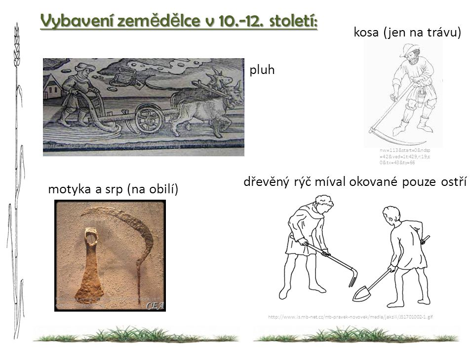 Vybavení zemědělce v 10.-12. století: