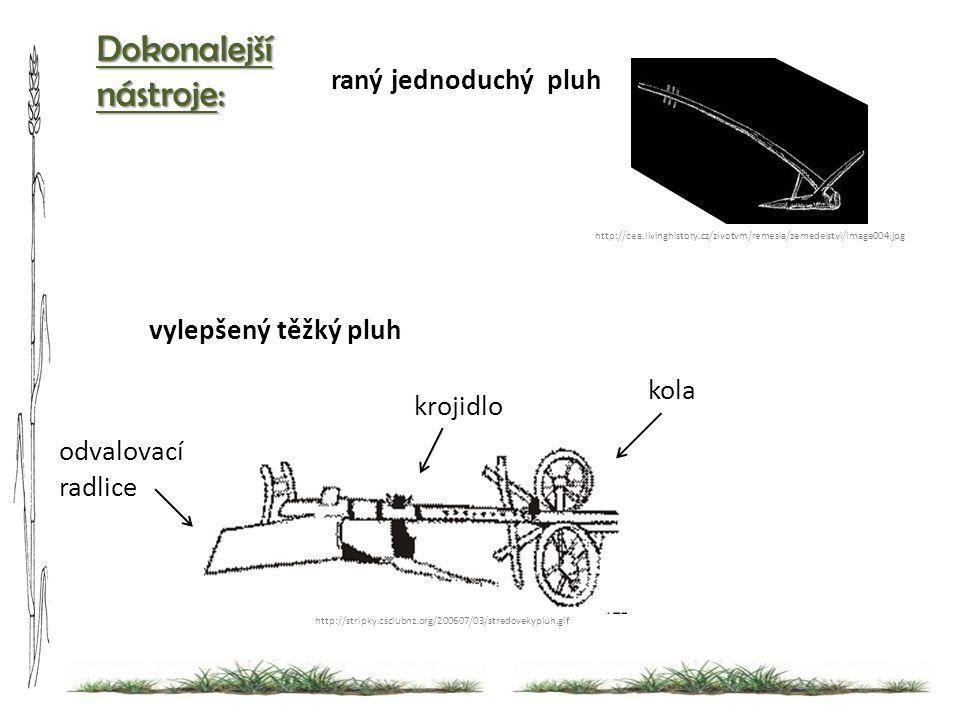 Dokonalejší nástroje: raný jednoduchý pluh vylepšený těžký pluh kola