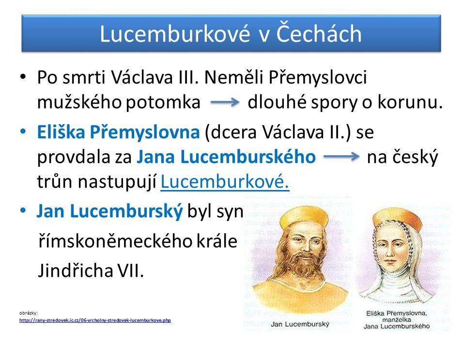 Lucemburkové v Čechách