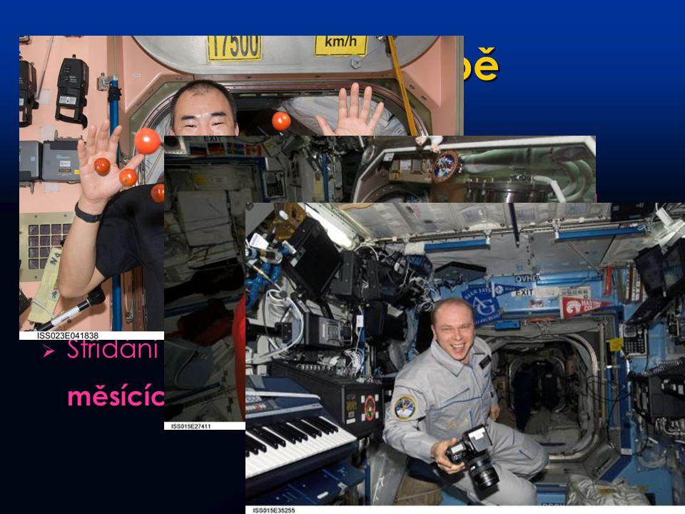 Život na palubě Vesmírnou stanici trvale obývá 2-6 kosmonautů. Z toho 2 Rusové, zbylá místa připadají americké, evropské, japonské a kanadské straně.