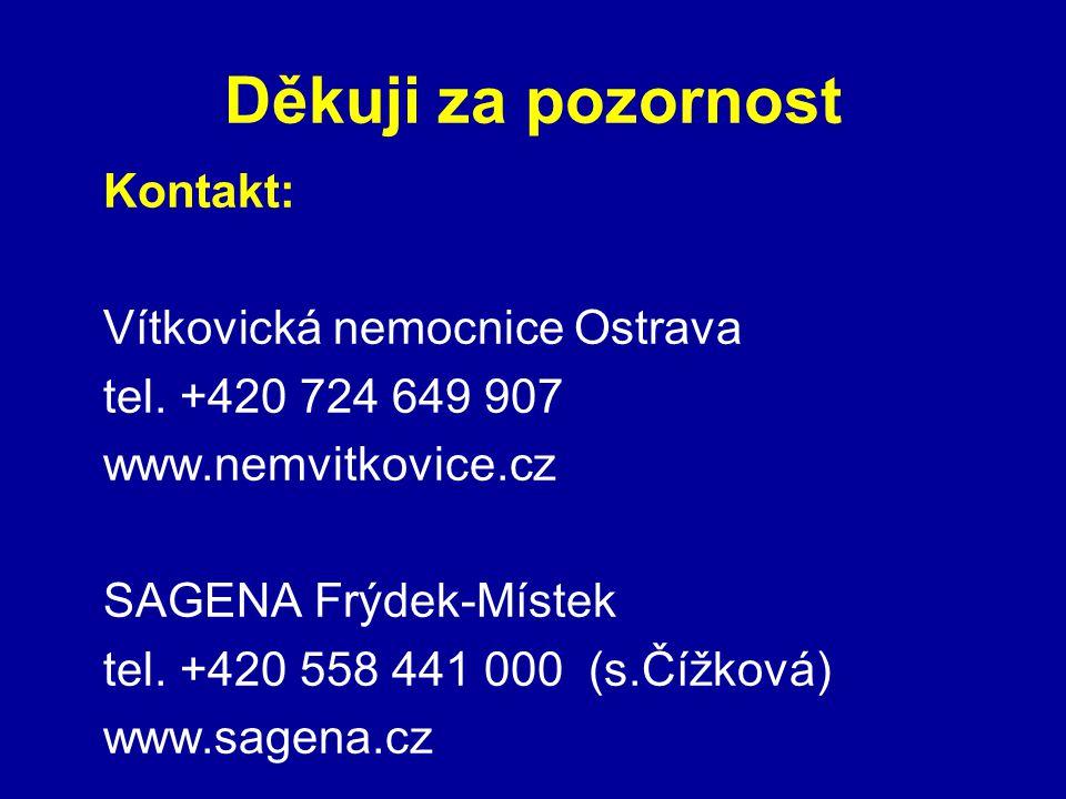 Děkuji za pozornost Kontakt: Vítkovická nemocnice Ostrava