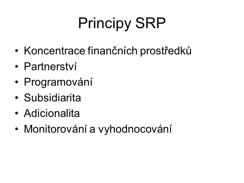 Principy SRP Koncentrace finančních prostředků Partnerství