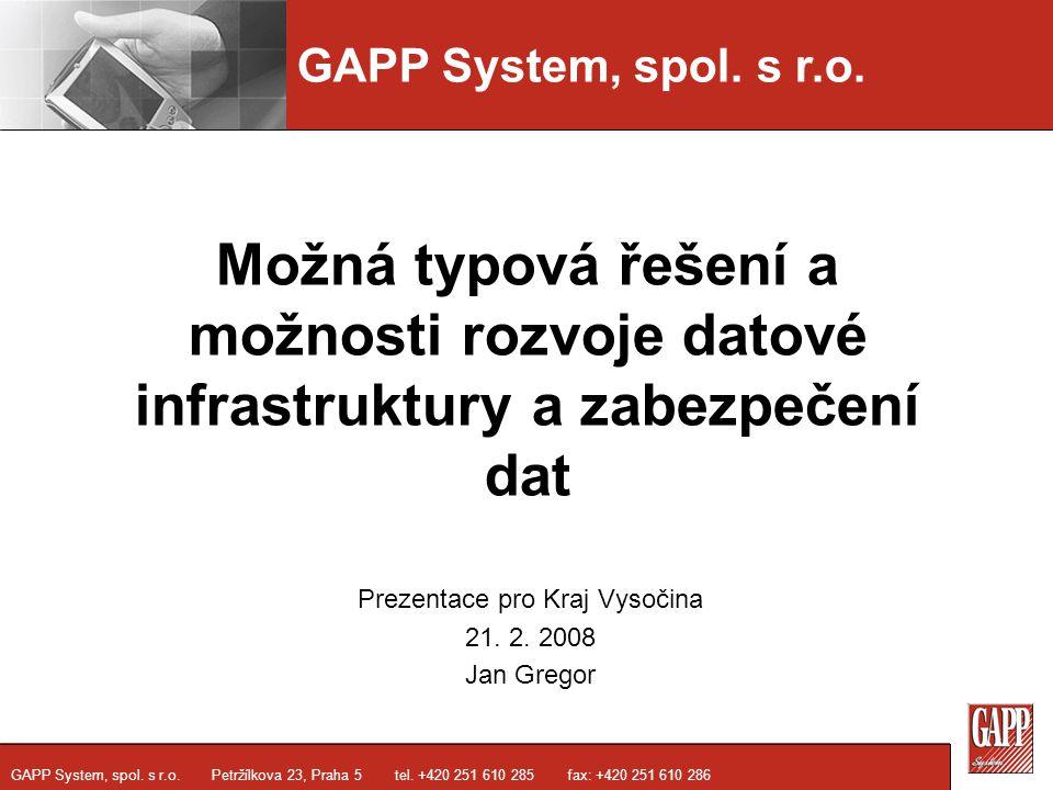 Prezentace pro Kraj Vysočina 21. 2. 2008 Jan Gregor