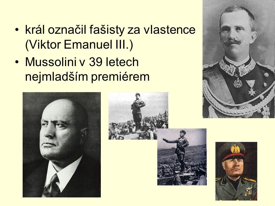 král označil fašisty za vlastence (Viktor Emanuel III.)