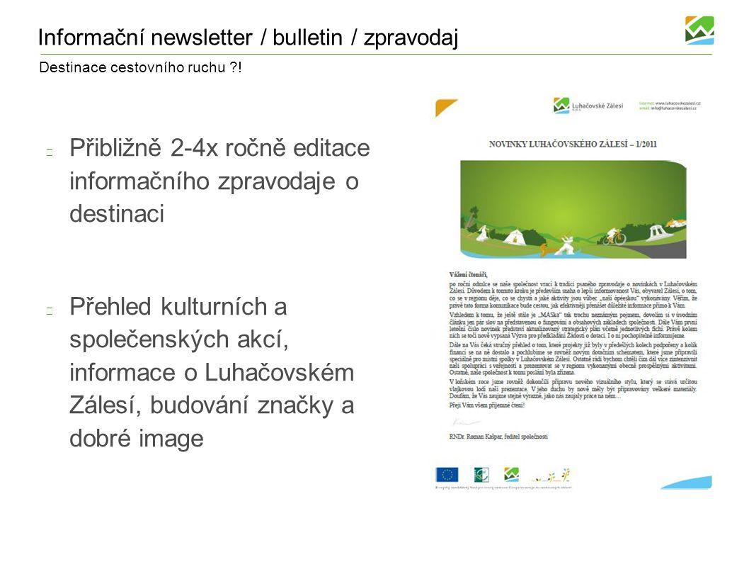 Informační newsletter / bulletin / zpravodaj