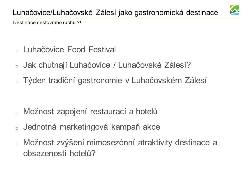 Luhačovice/Luhačovské Zálesí jako gastronomická destinace