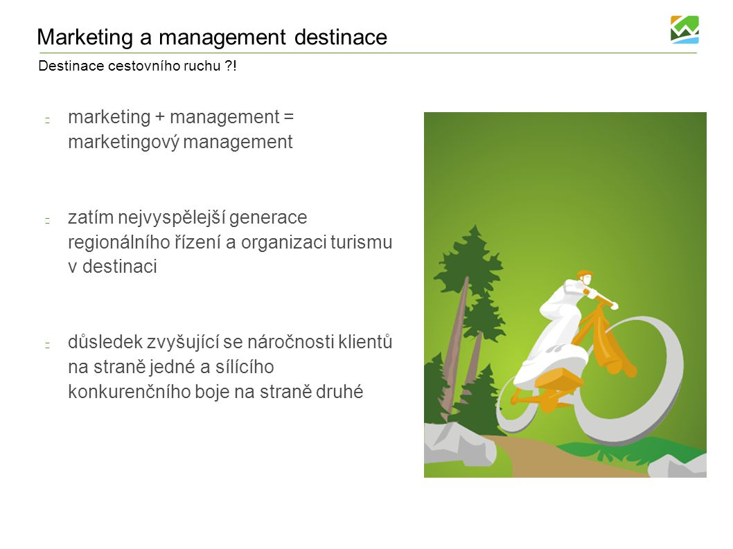 Marketing a management destinace