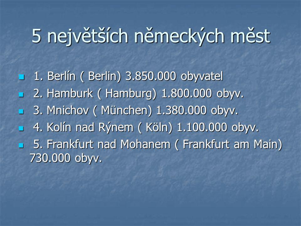 5 největších německých měst