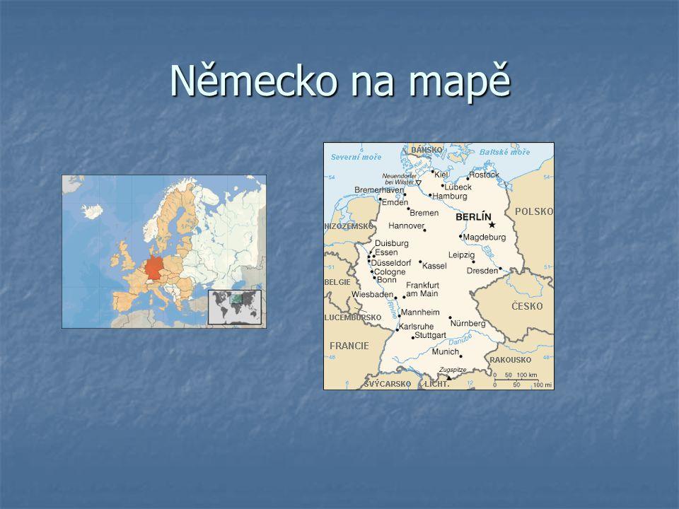 Německo na mapě