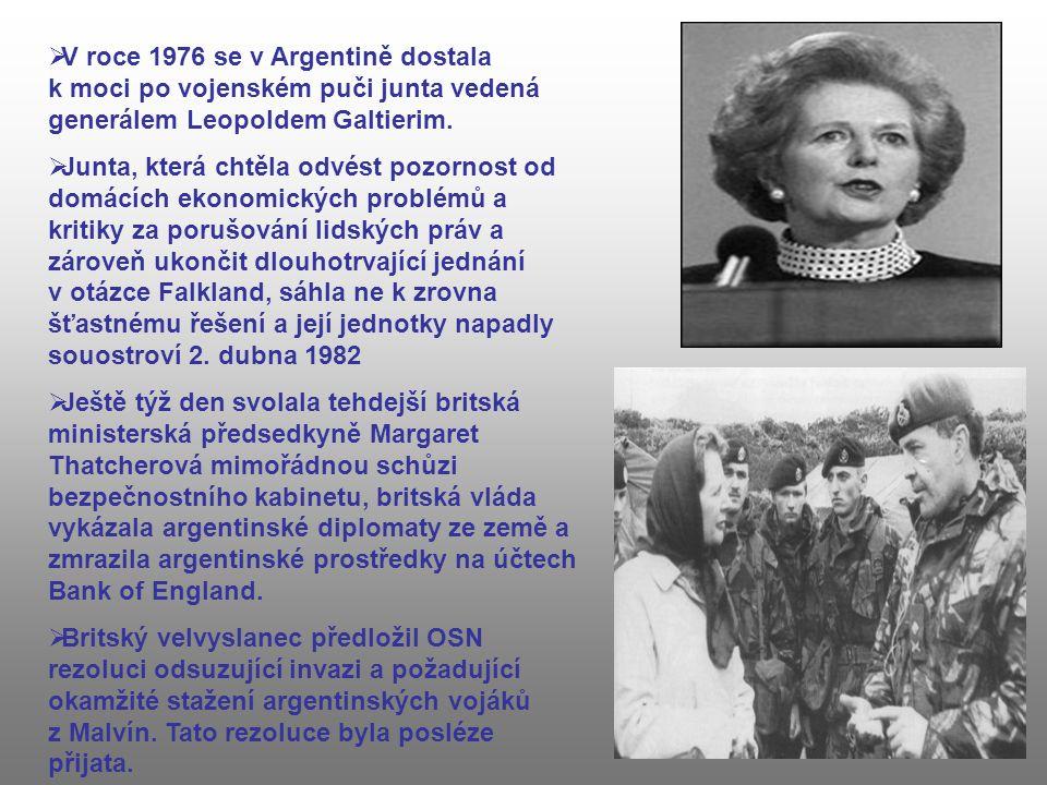 V roce 1976 se v Argentině dostala k moci po vojenském puči junta vedená generálem Leopoldem Galtierim.
