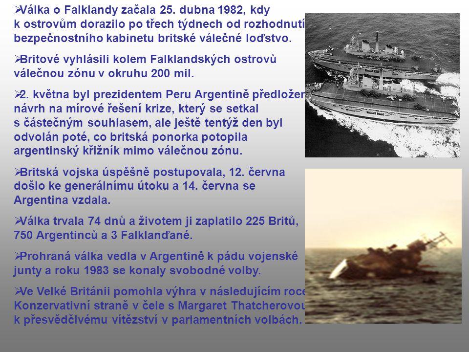 Válka o Falklandy začala 25