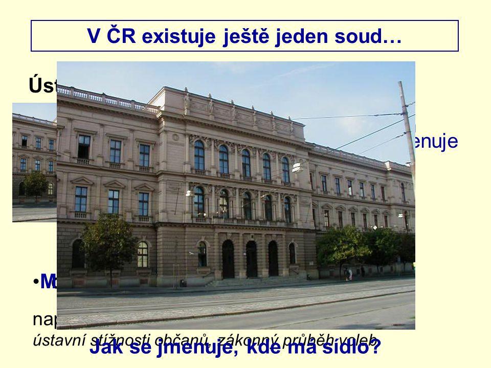 V ČR existuje ještě jeden soud…
