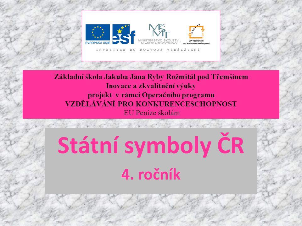 Státní symboly ČR 4. ročník