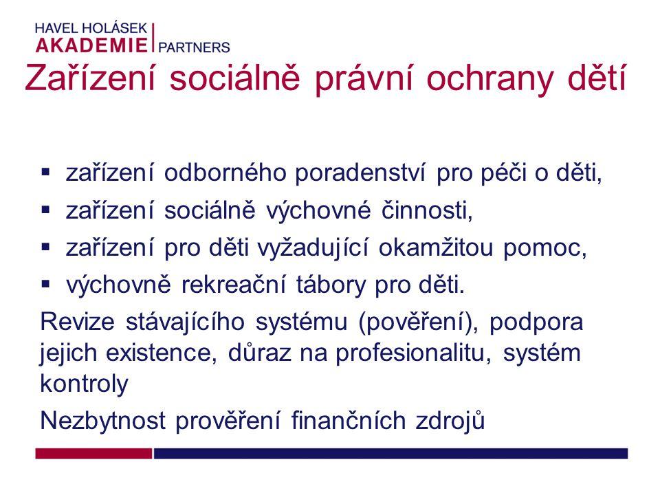 Zařízení sociálně právní ochrany dětí