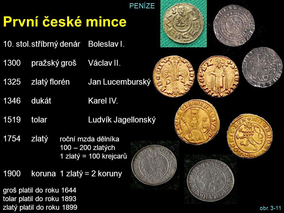První české mince 10. stol. stříbrný denár Boleslav I.