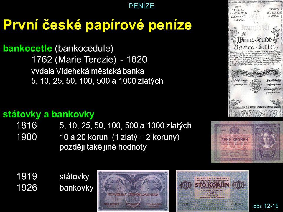 První české papírové peníze