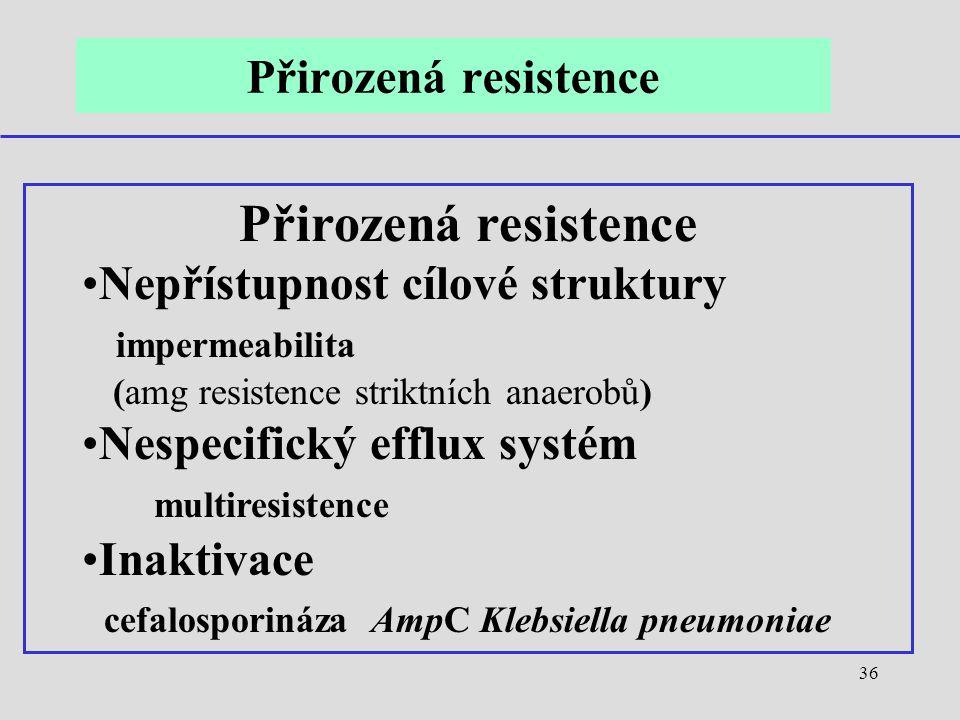 Přirozená resistence Přirozená resistence