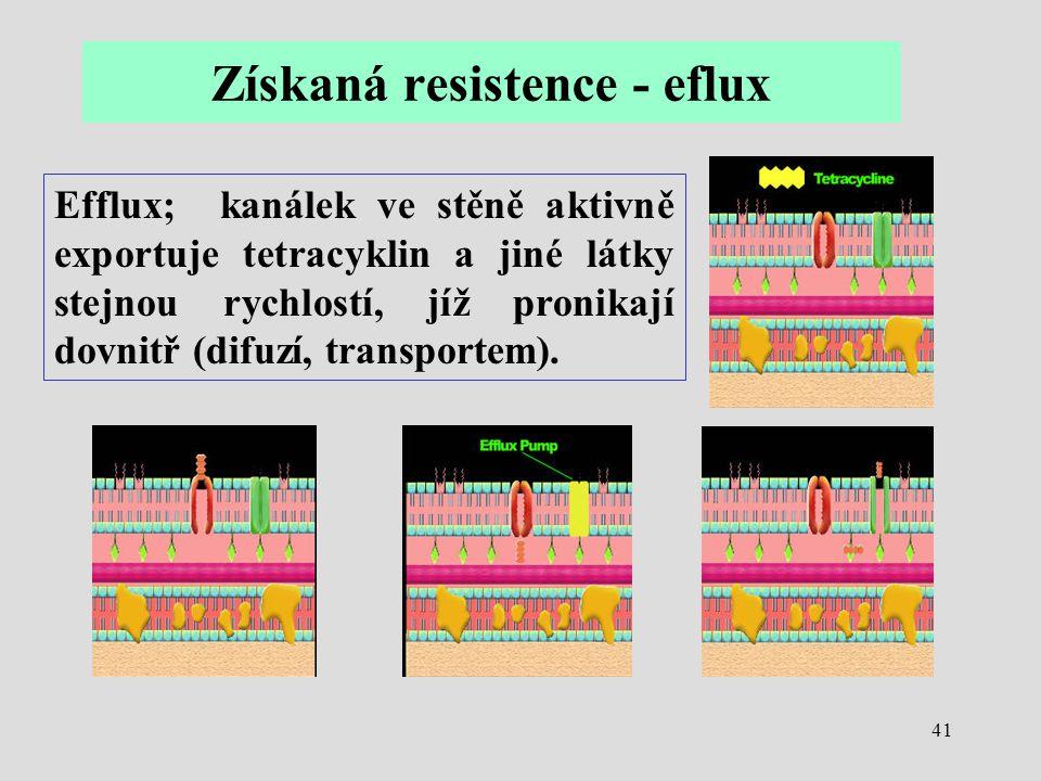 Získaná resistence - eflux