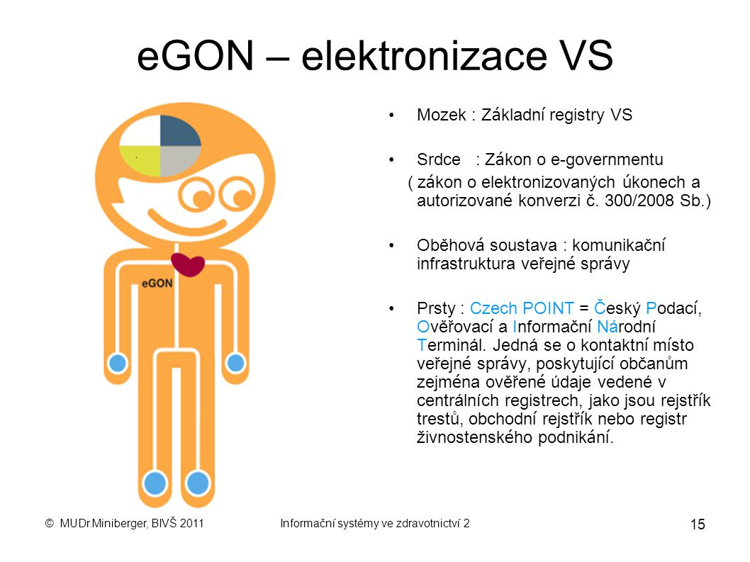 eGON – elektronizace VS