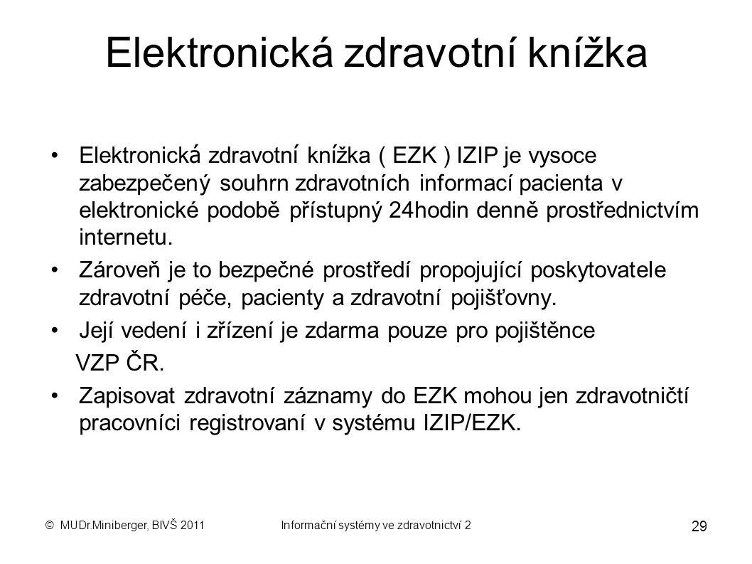 Elektronická zdravotní knížka