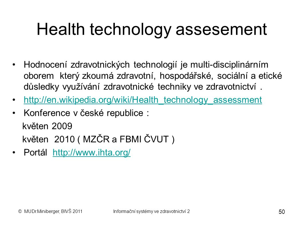 Health technology assesement