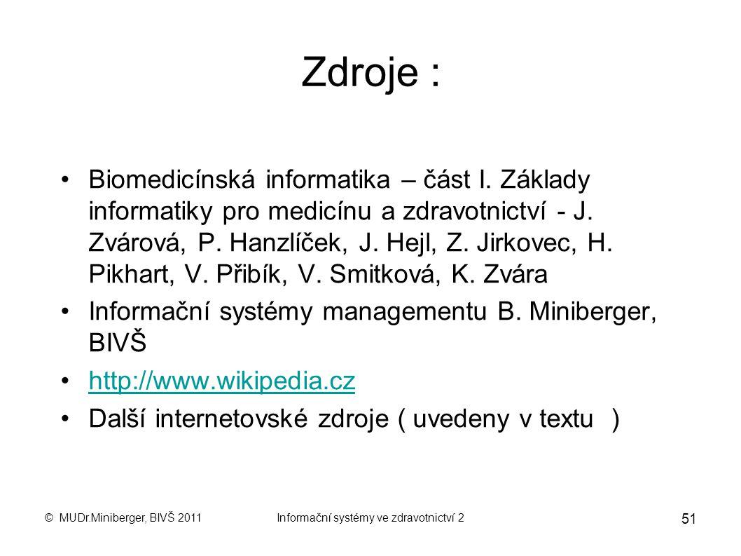 Informační systémy ve zdravotnictví 2