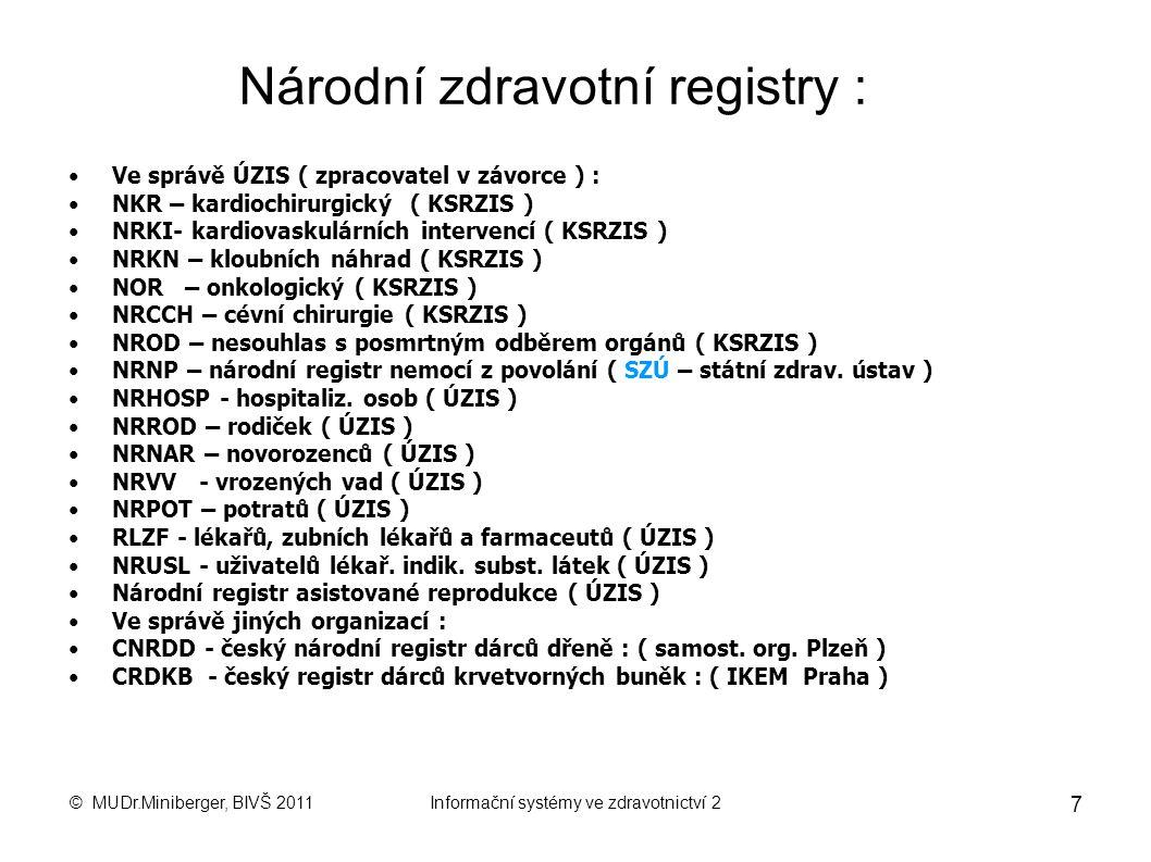 Národní zdravotní registry :