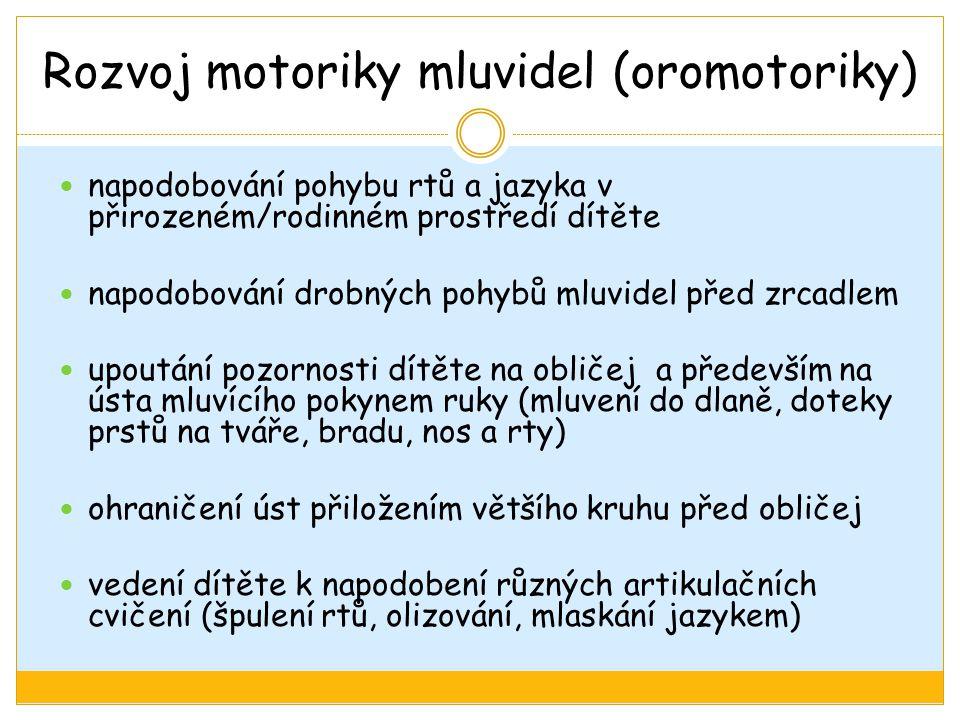 Rozvoj motoriky mluvidel (oromotoriky)