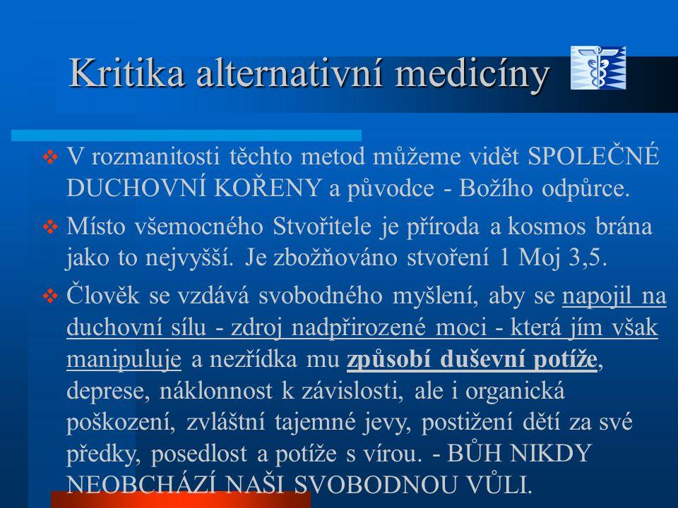 Kritika alternativní medicíny