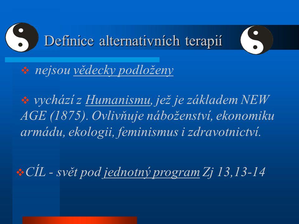Definice alternativních terapií