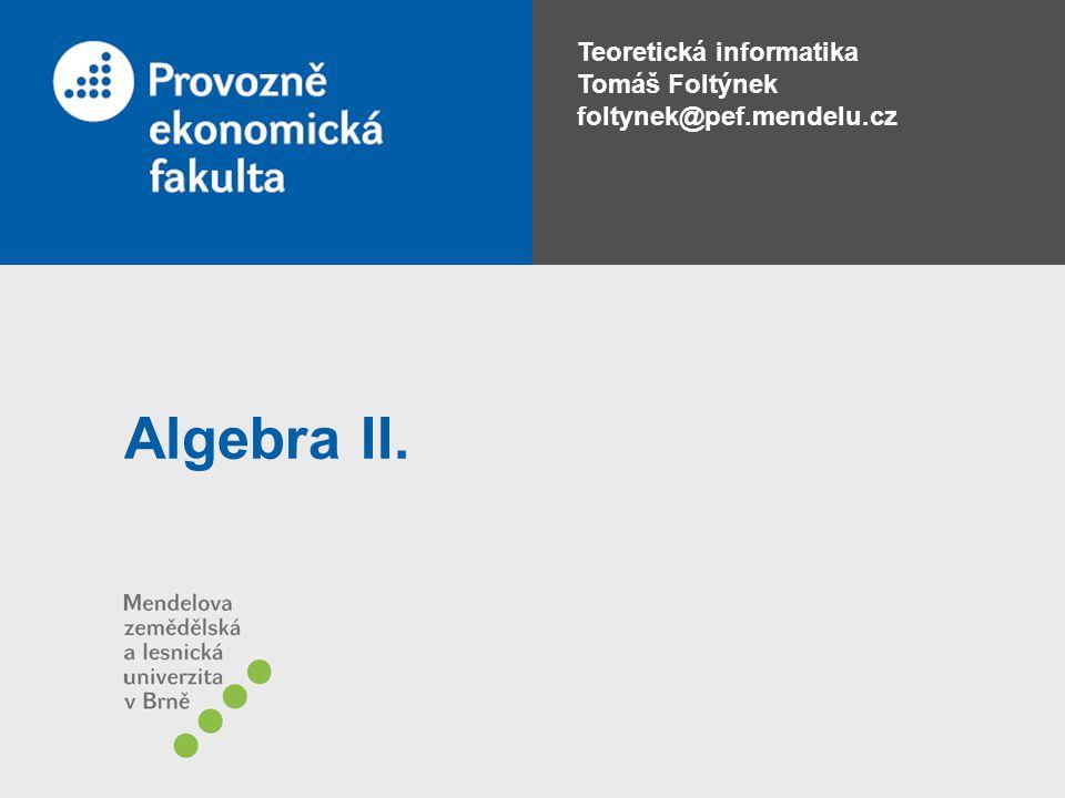 Algebra II.