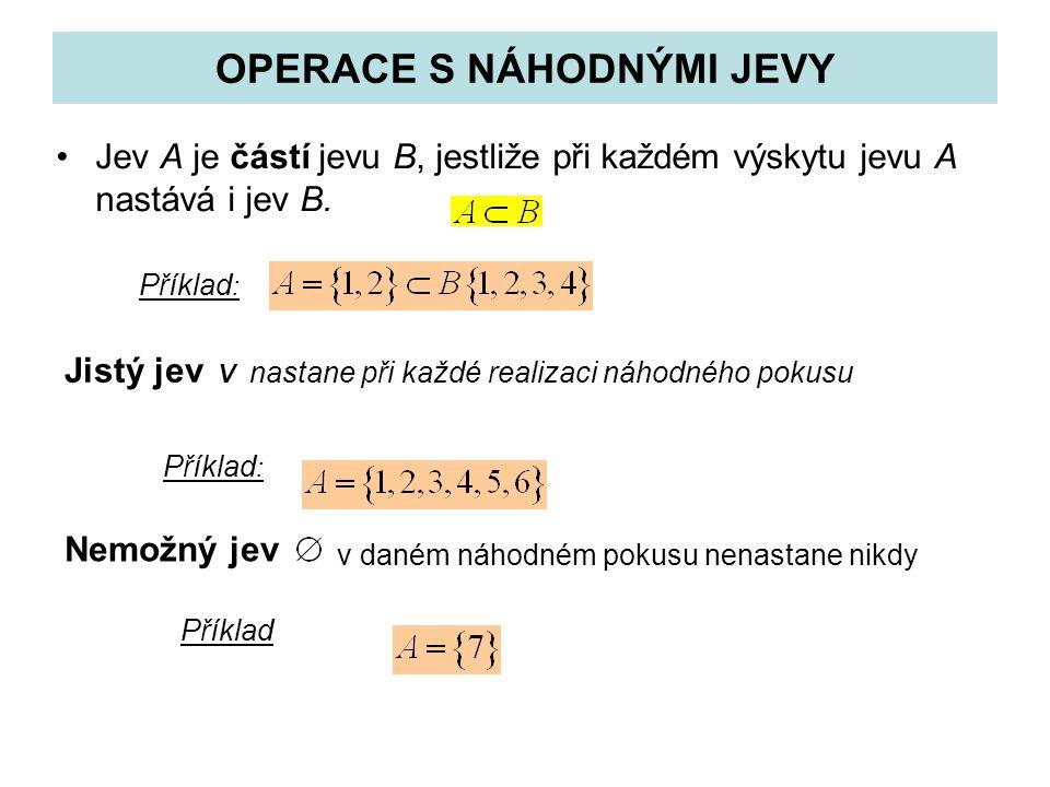 OPERACE S NÁHODNÝMI JEVY
