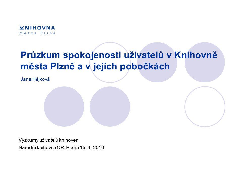 Výzkumy uživatelů knihoven Národní knihovna ČR, Praha 15. 4. 2010