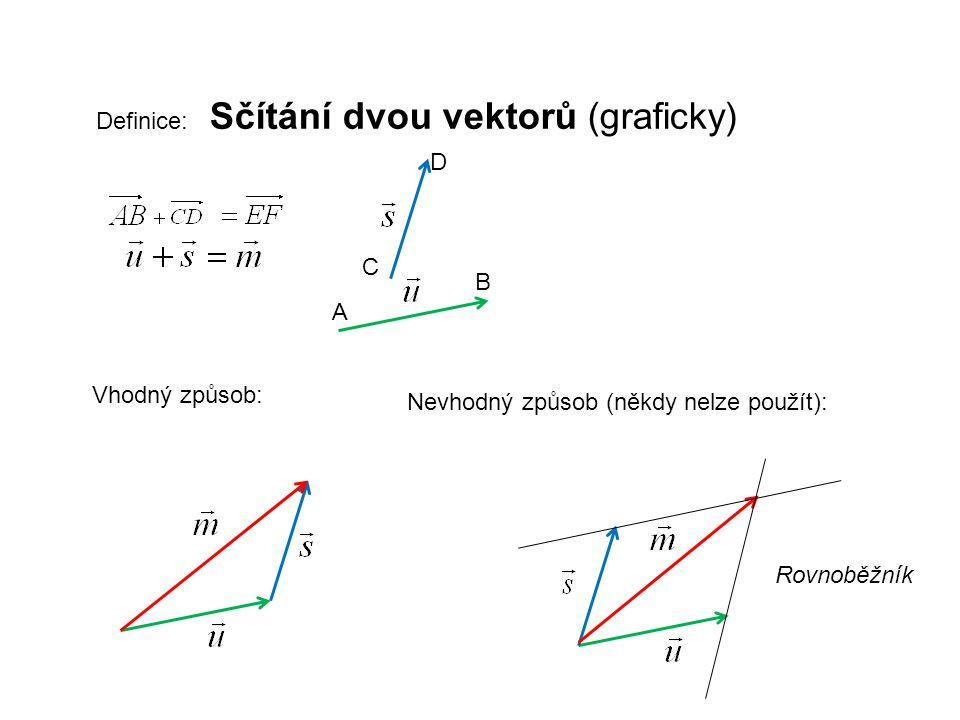 Definice: Sčítání dvou vektorů (graficky)