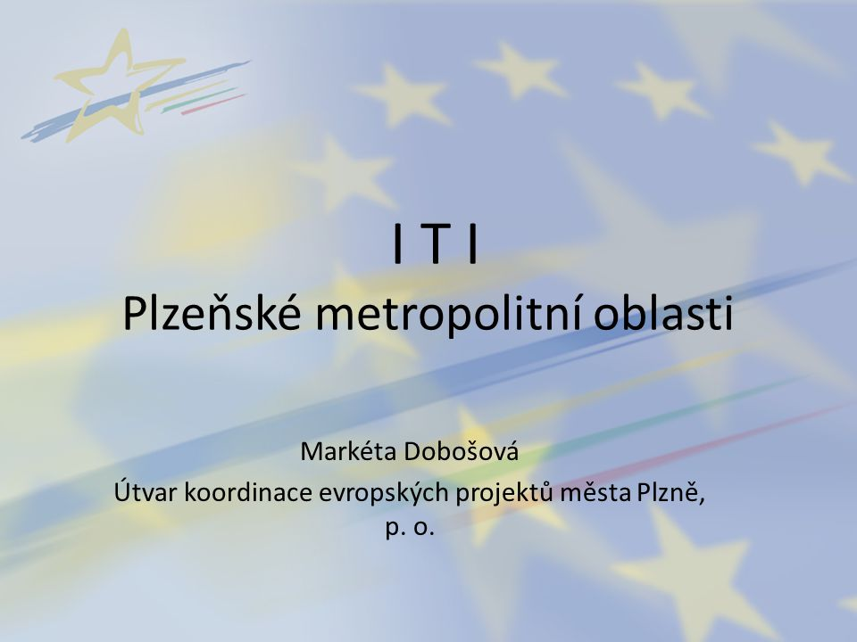I T I Plzeňské metropolitní oblasti
