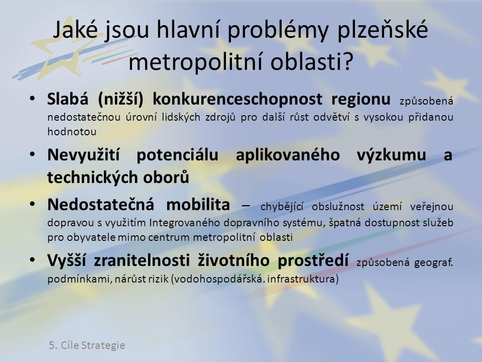 Jaké jsou hlavní problémy plzeňské metropolitní oblasti