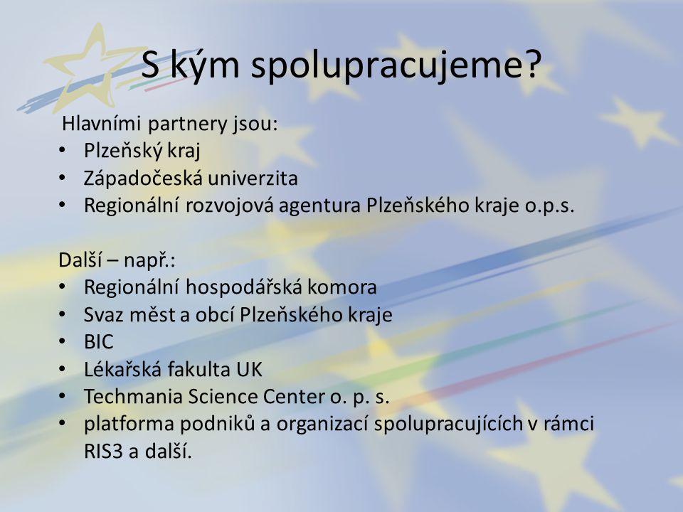S kým spolupracujeme Plzeňský kraj Západočeská univerzita