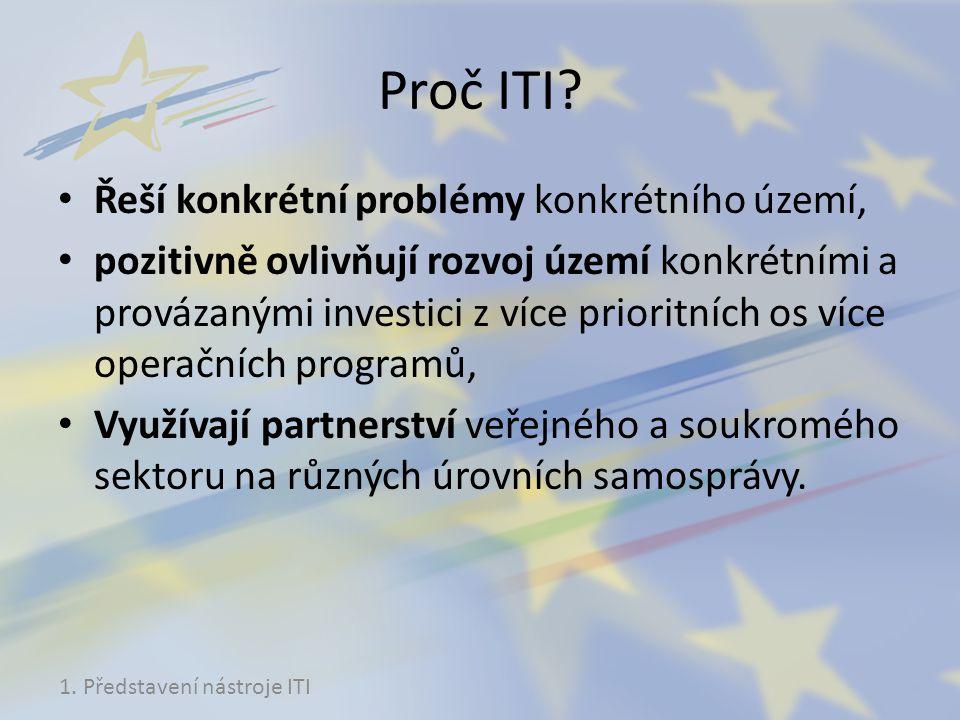 Proč ITI Řeší konkrétní problémy konkrétního území,