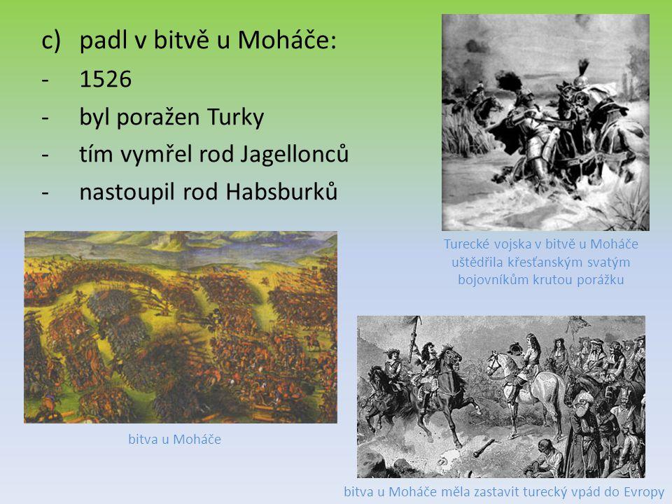 bitva u Moháče měla zastavit turecký vpád do Evropy