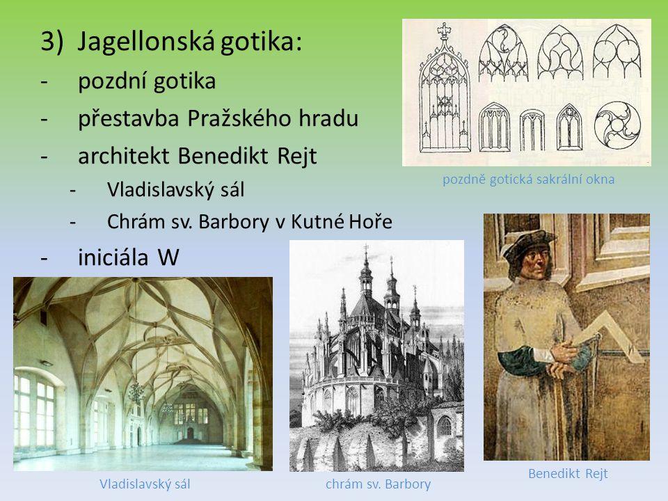 pozdně gotická sakrální okna