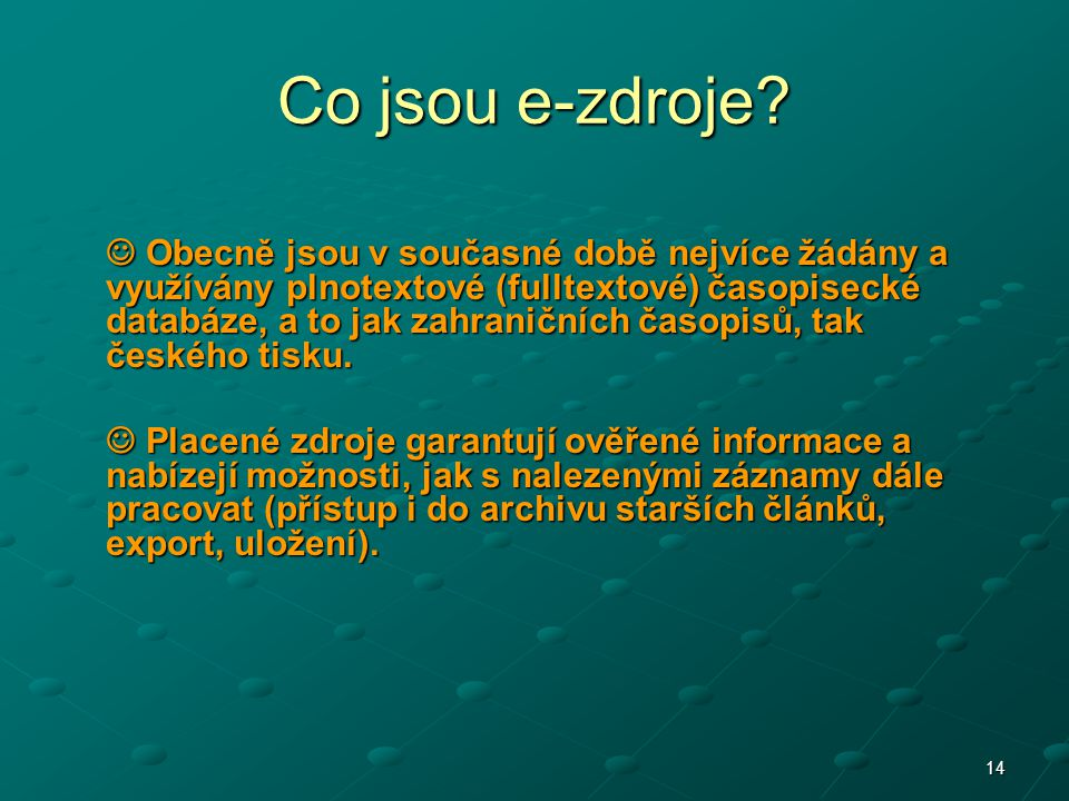 Co jsou e-zdroje