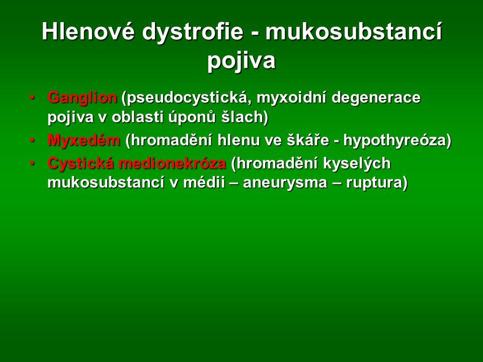 Hlenové dystrofie - mukosubstancí pojiva