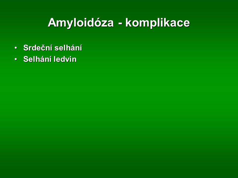 Amyloidóza - komplikace