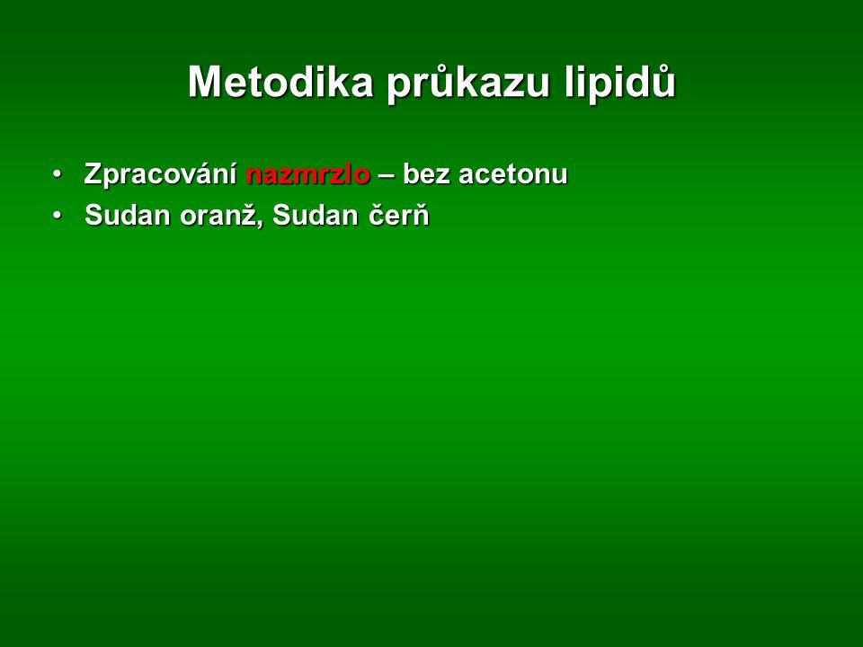 Metodika průkazu lipidů