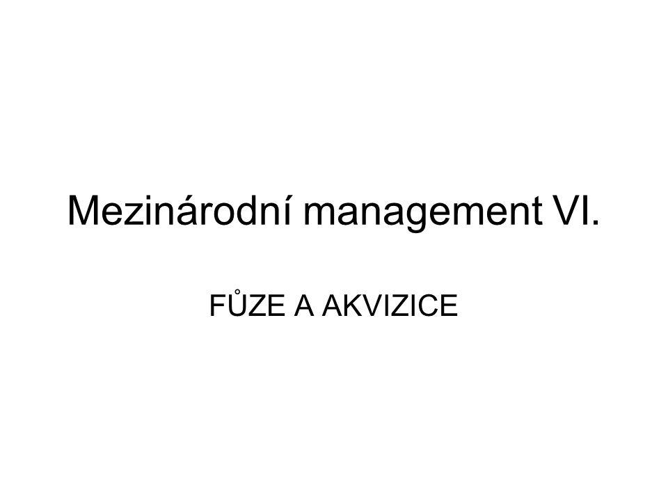 Mezinárodní management VI.