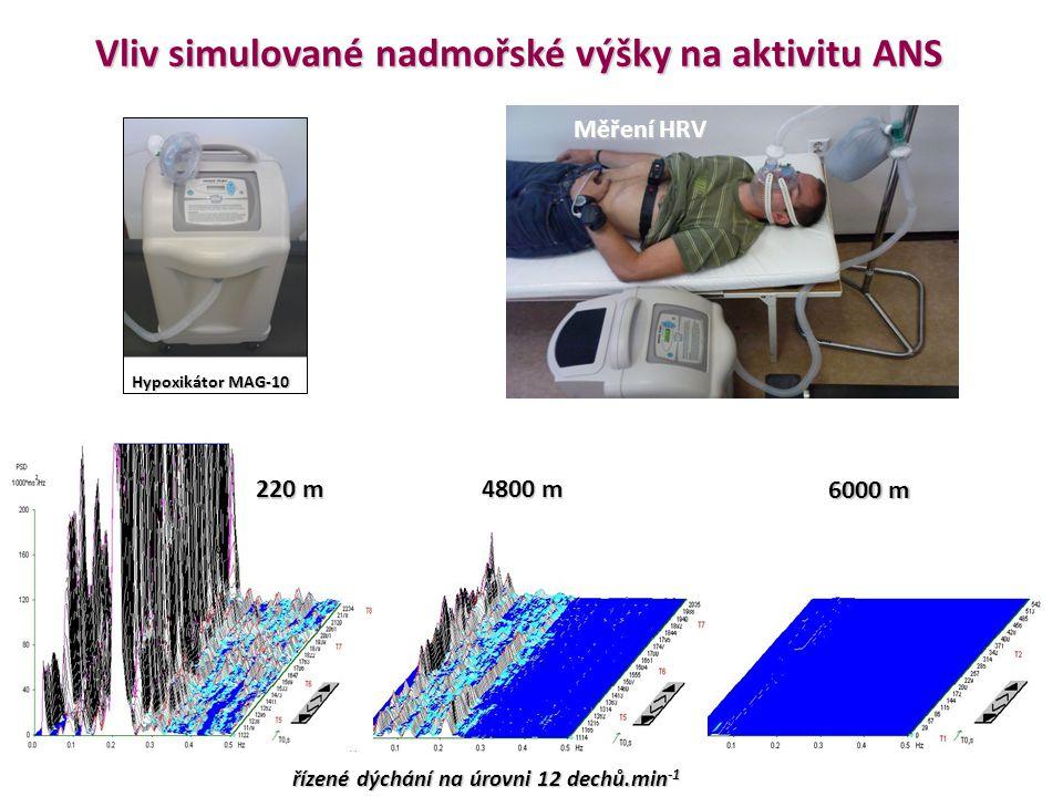 Vliv simulované nadmořské výšky na aktivitu ANS