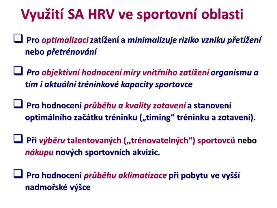Využití SA HRV ve sportovní oblasti