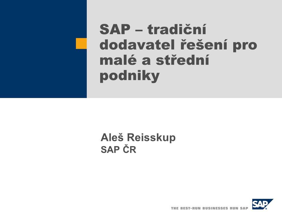SAP – tradiční dodavatel řešení pro malé a střední podniky