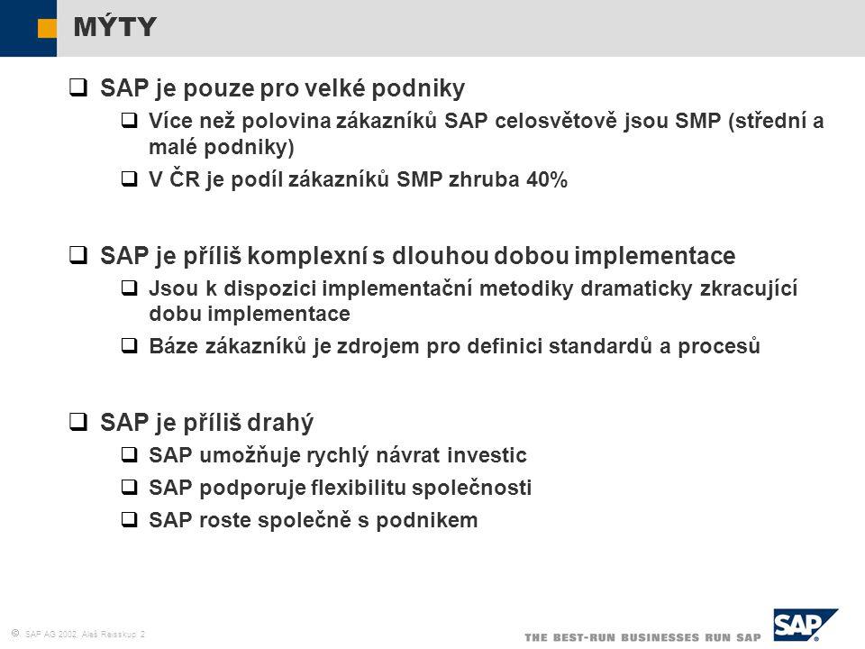 MÝTY SAP je pouze pro velké podniky