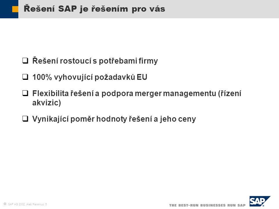 Řešení SAP je řešením pro vás